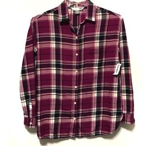 Old Navy The Boyfriend Flannel Shirt S